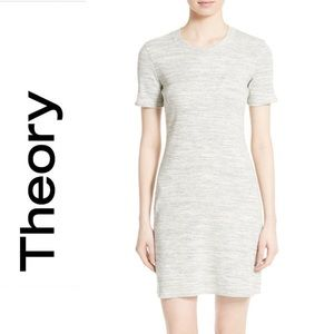 Theory Cherry B3 Melange Grey Sterling Rib Dress S